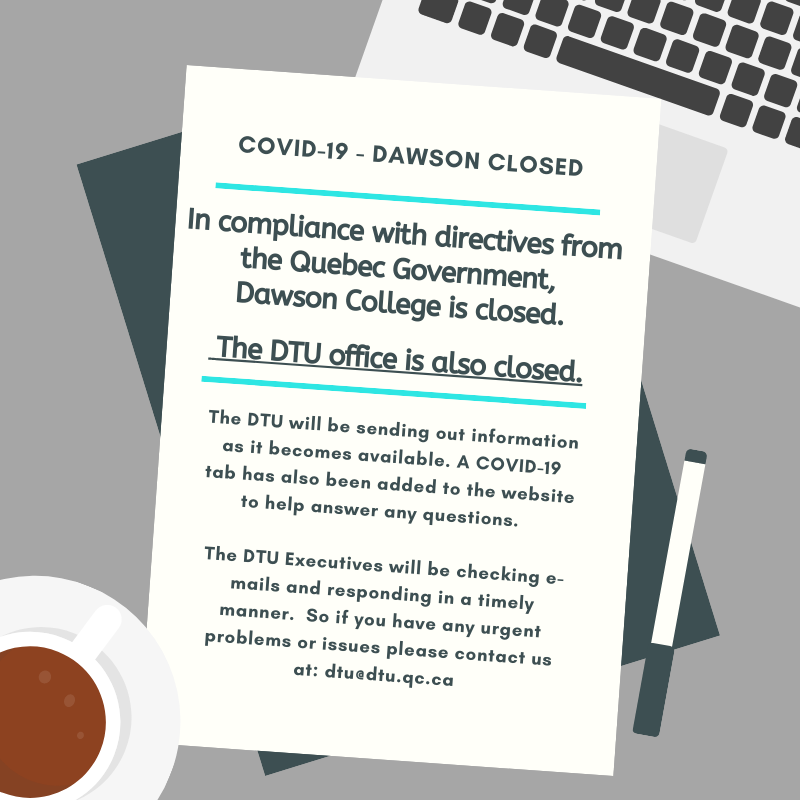 DTU office is currently closed.